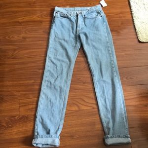 AA Button Up High Waisted Light Wash Jeans